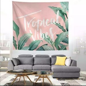 Tropical Vibes Wall Tapestry Home Decorations